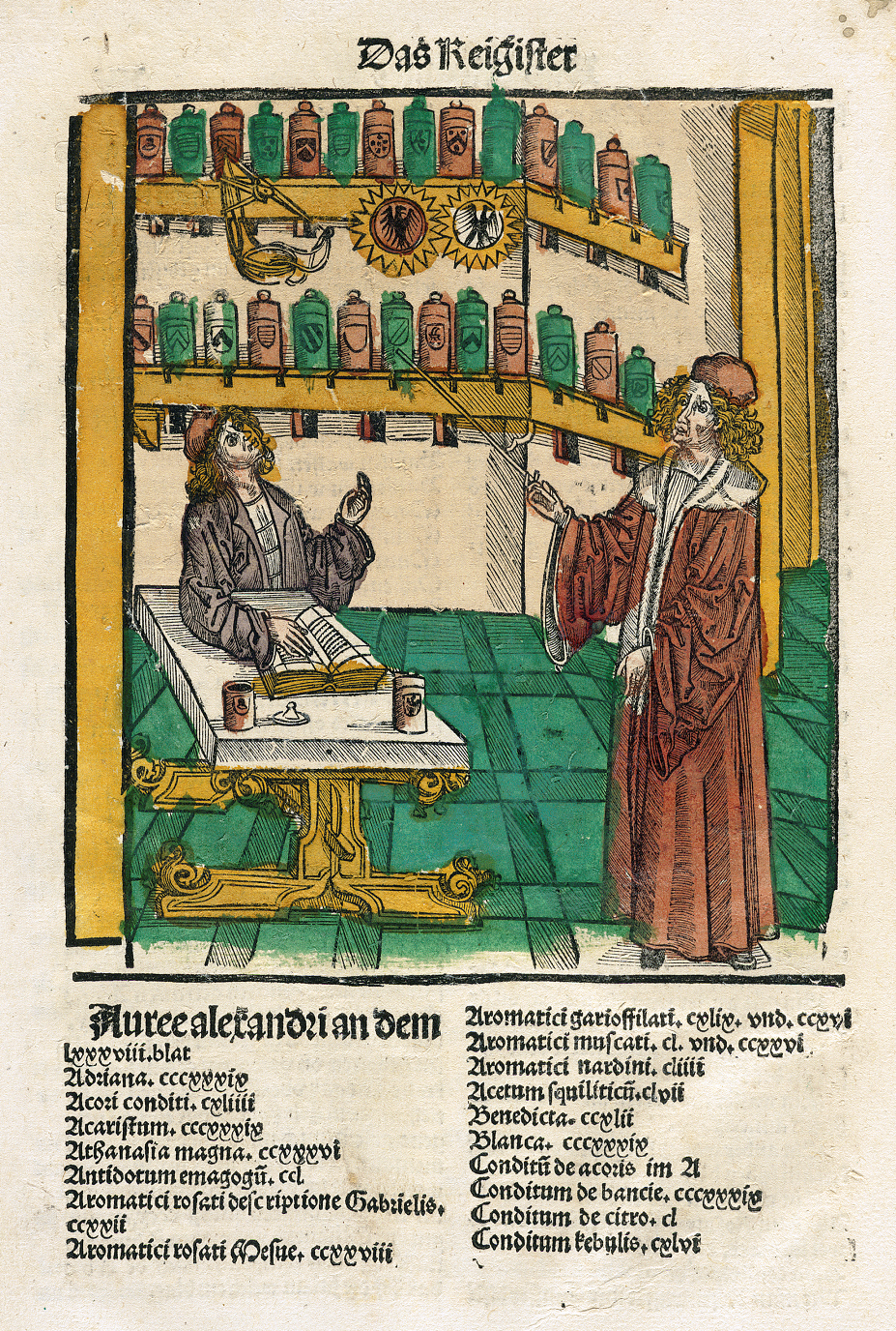 Illustration of an alchemy workshop;  Courtesy National Library of Medicine