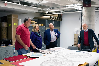 Gerar discussing the use of laser cut technology in new printmaking processes