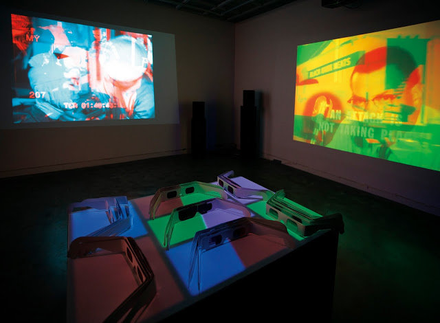Transmission/Omission, Multi Channel Interactive Video Projection/Installation