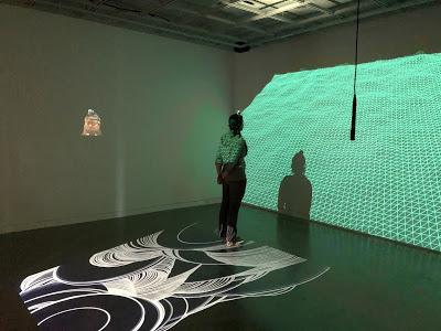Interactive brain wave installation in the Immersive Gallery