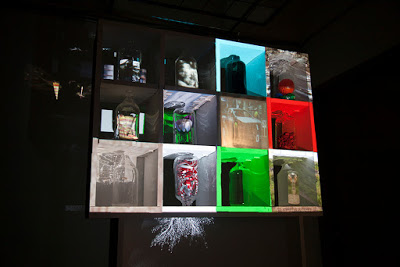 Grey Box 2015, video glass installation