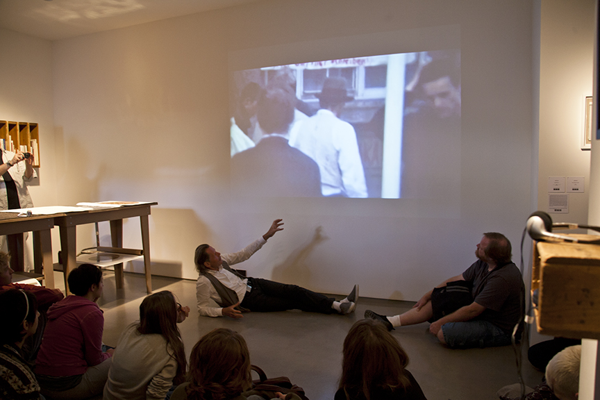 """Emil Schult Giving Talk at """"Reading Through Beuys"""" Show"""