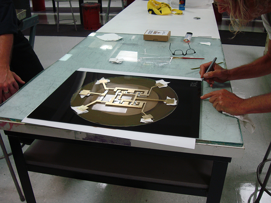 Completed First Integrated Circuit Painting Being Signed