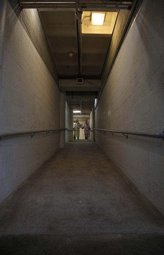 Down a long, dark hallway