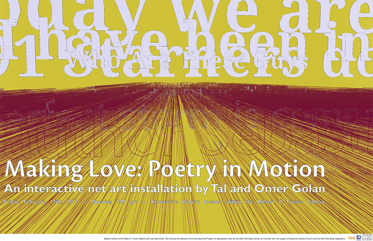 """Making Love: Poetry in Motion"" opening poster"
