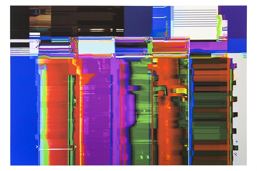 Glitched Video Print
