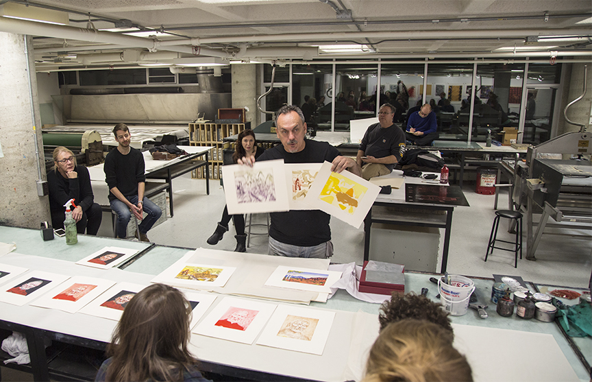 MIchael's demonstration on multiple plate registration for intaglio printing
