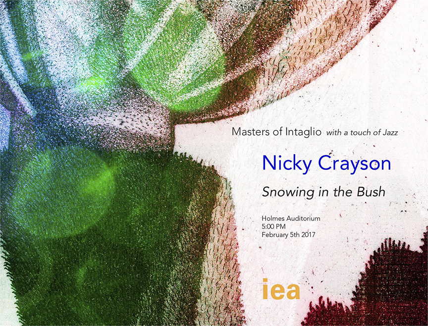 Show card for Snowing in the Bush