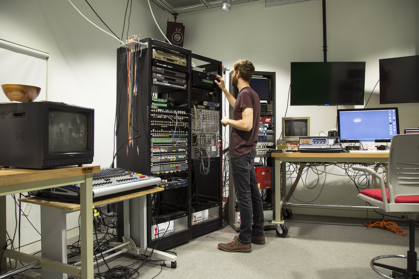 Blake at work in the studio