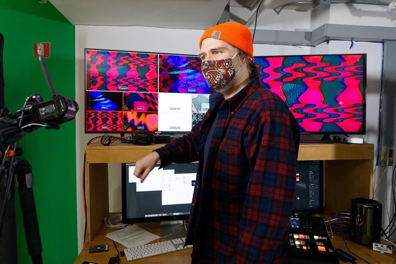 Allen Riley in IEA studio