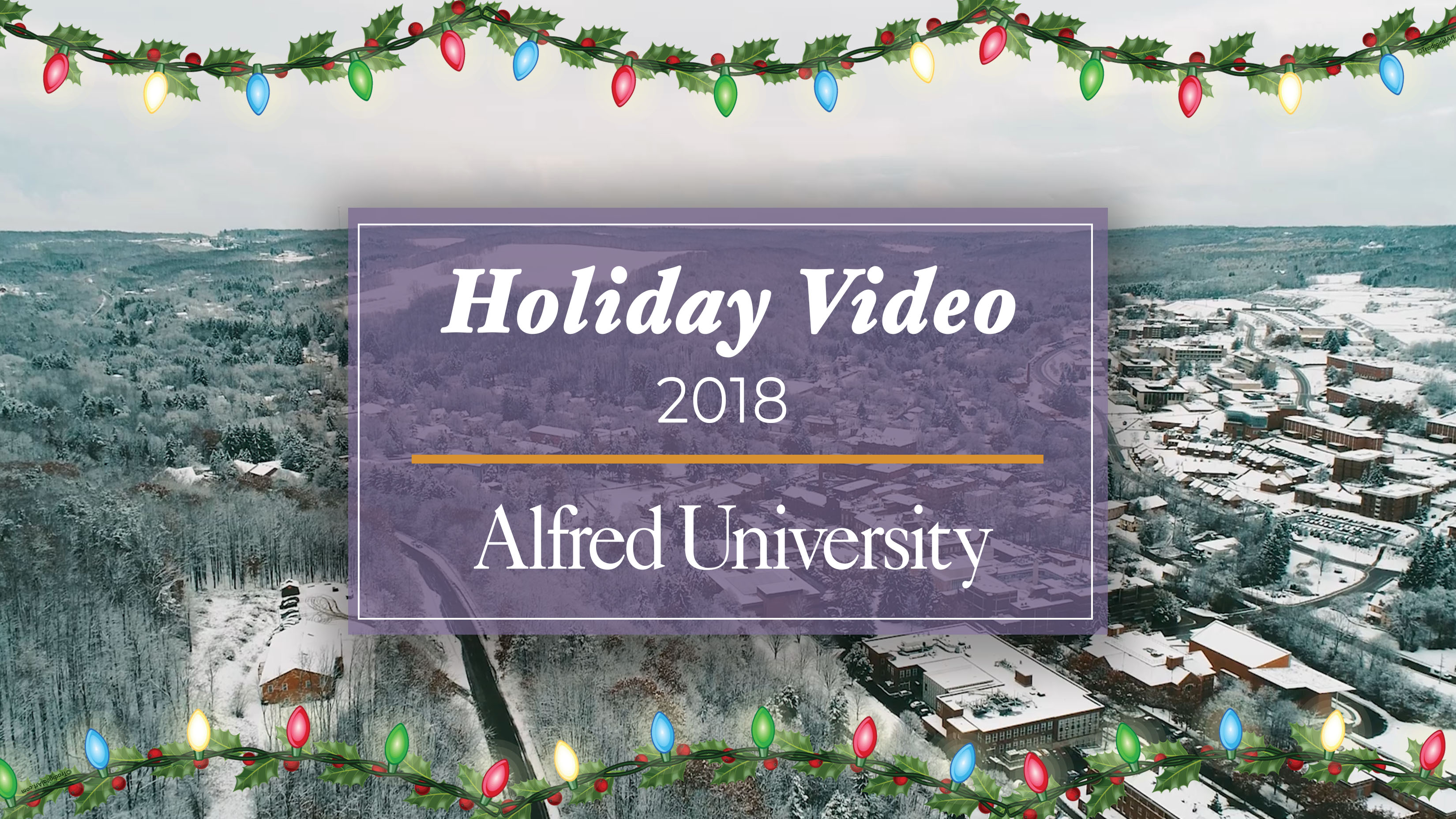 Alfred University Holiday Video 2018