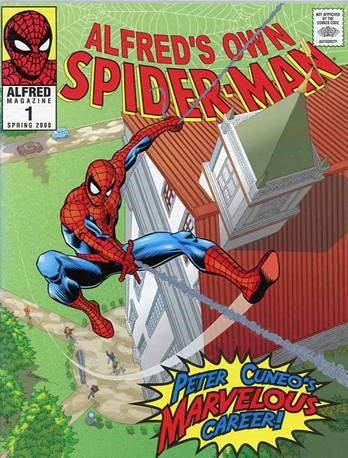 Alfred Magazine cover featuring Spider-Man